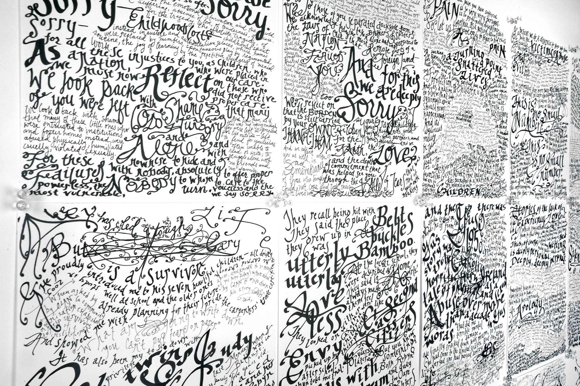 Apology to the Forgotten Australians and Former Child Migrants (detail), 2009