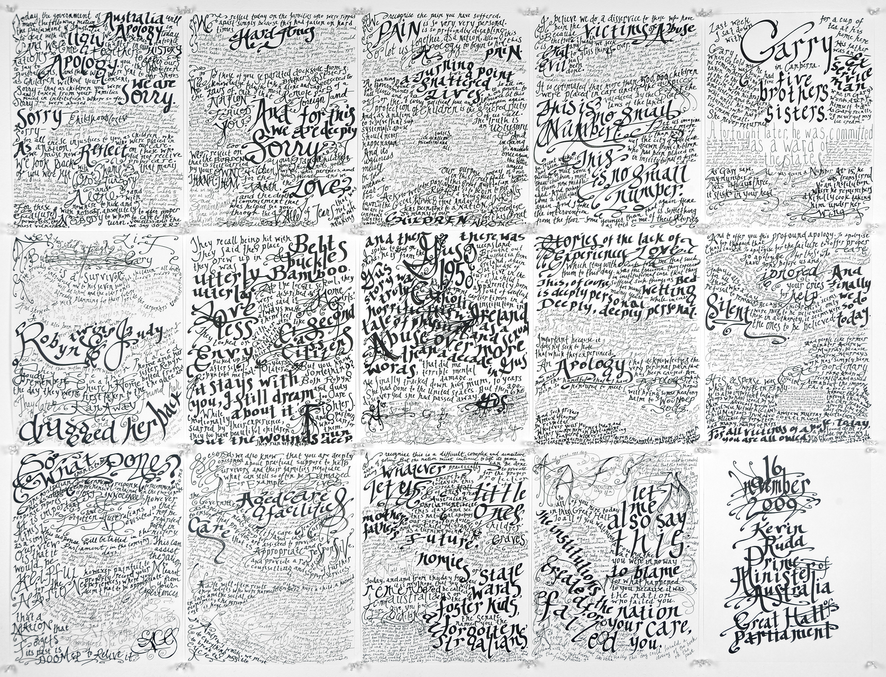 Apology to the Forgotten Australians and Former Child Migrants, 2009 (46 x 59 in)