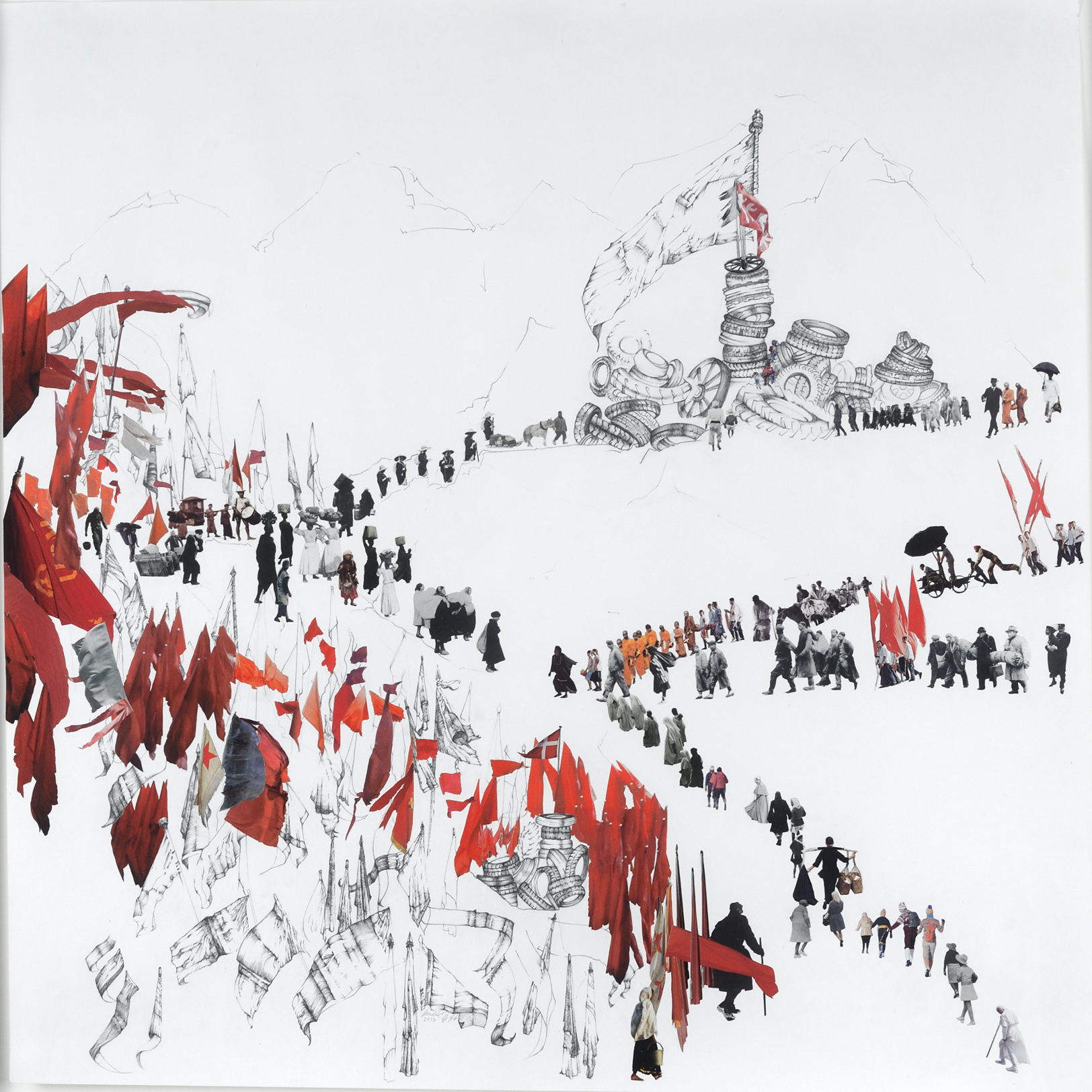 The Whole World Is Marching, 2013 (39 x 39 in)
