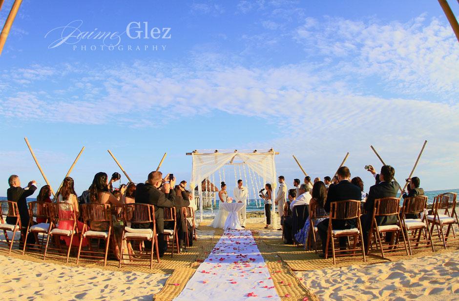 Romantic and intimate beach ceremony...