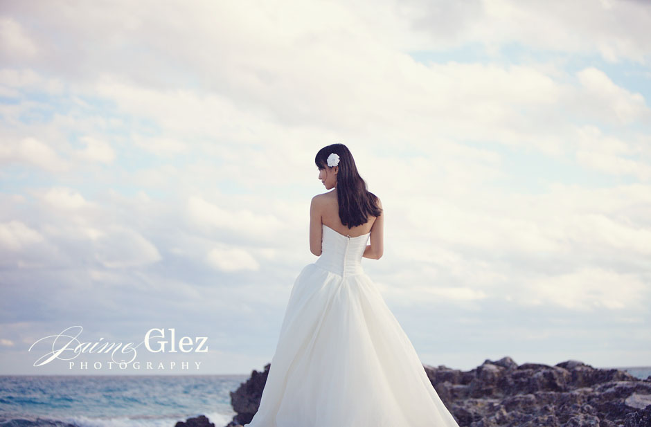 Riviera Maya is one of the best places for a bride's photo!