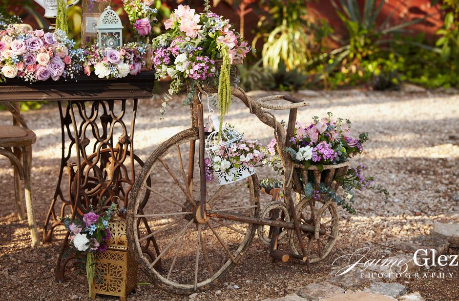 Beautiful flower decoration with a unique vintage style.