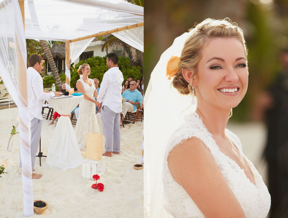 """Love to be Tulum'swedding photographer to capture the moment of """"Yes I do""""!"""