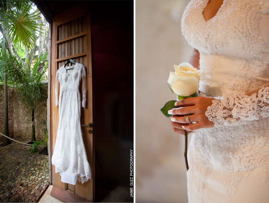 Elegant and sweet wedding dress!