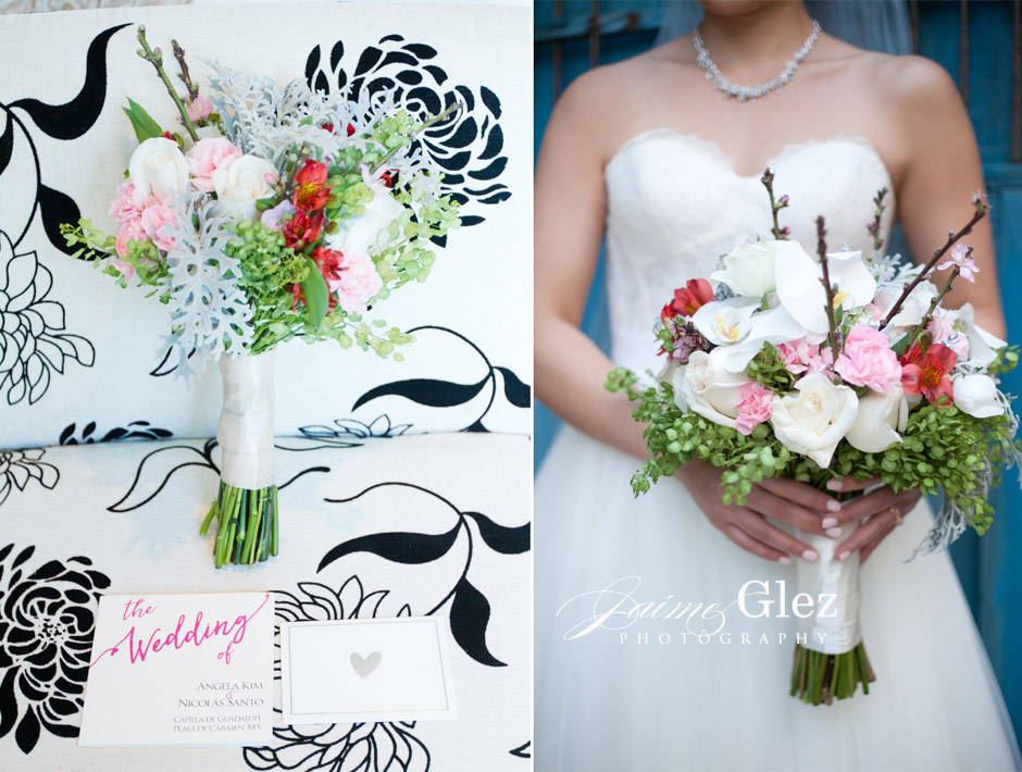 Romantic and sweet bridal bouquet was a perfect match for Angela's special day!
