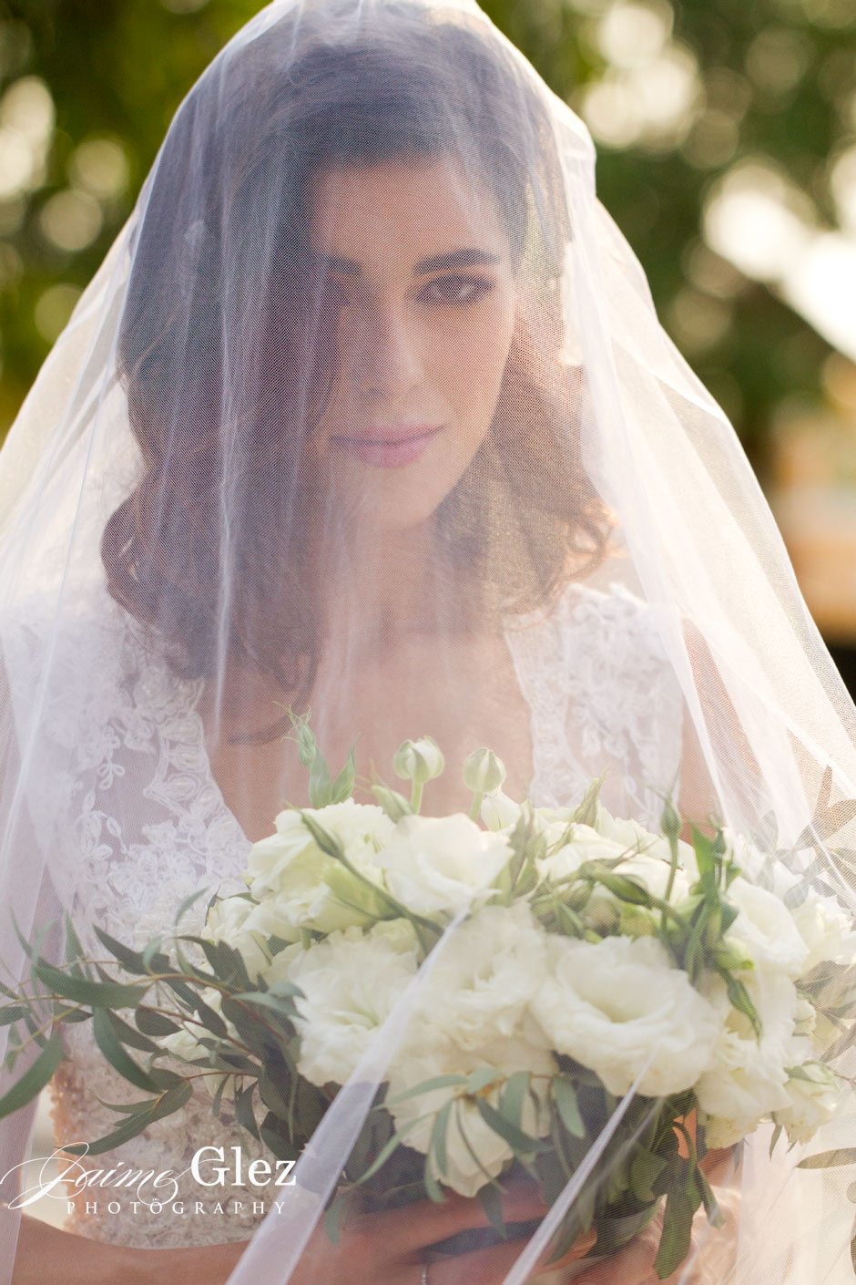 Light, bride's veil and bridal beauty gave us a such a perfect photo!