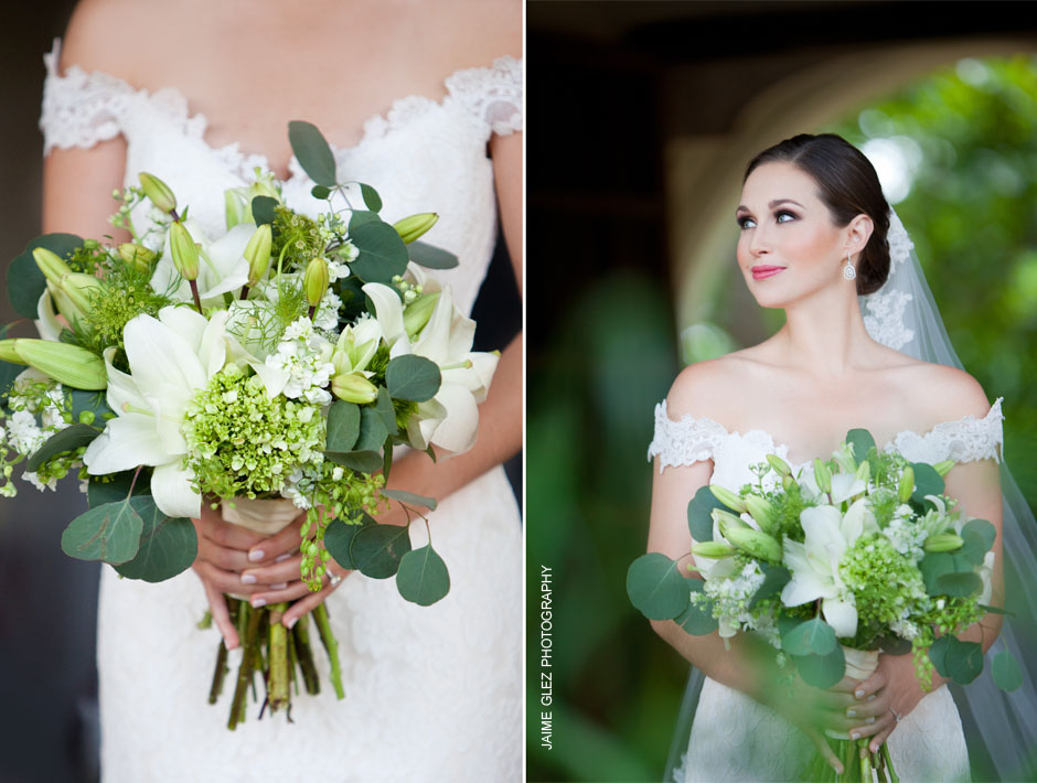 Fresh white lily bride bouquet! Lovely!