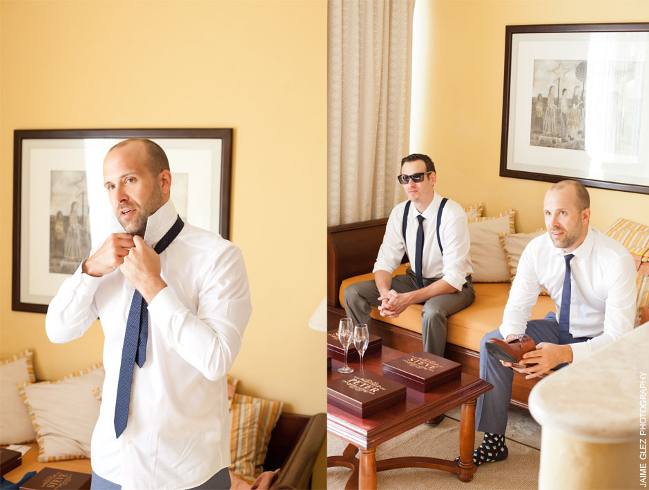 Groom's getting ready