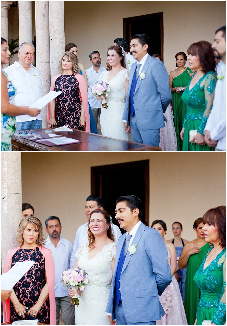 Civil Marriage Ceremony in Hacienda Temozon.