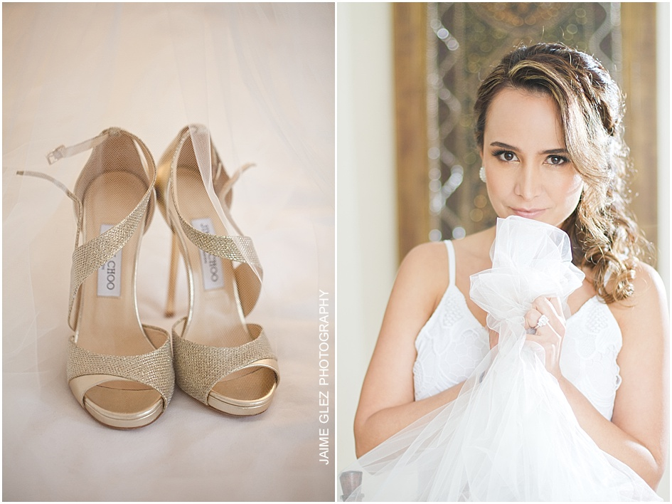 Jimmy Choo wedding shoes.