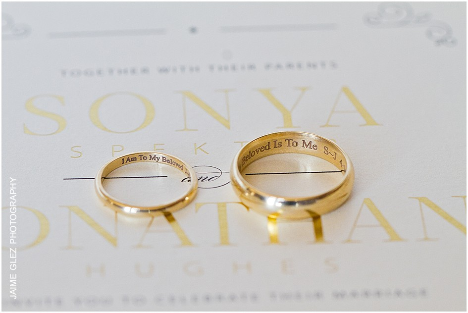 Lovely way to personalize your wedding rings.