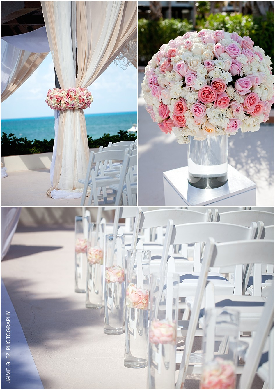 Lovely idea for beach wedding decor!
