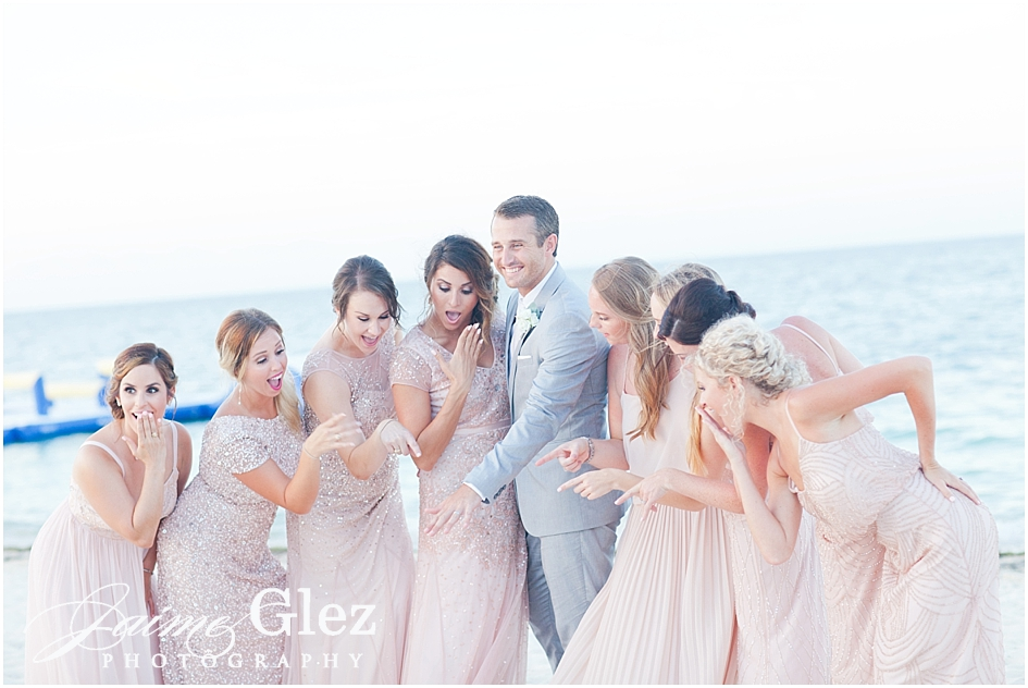 A very enjoyable photo shoot with bridesmaids! He did it!