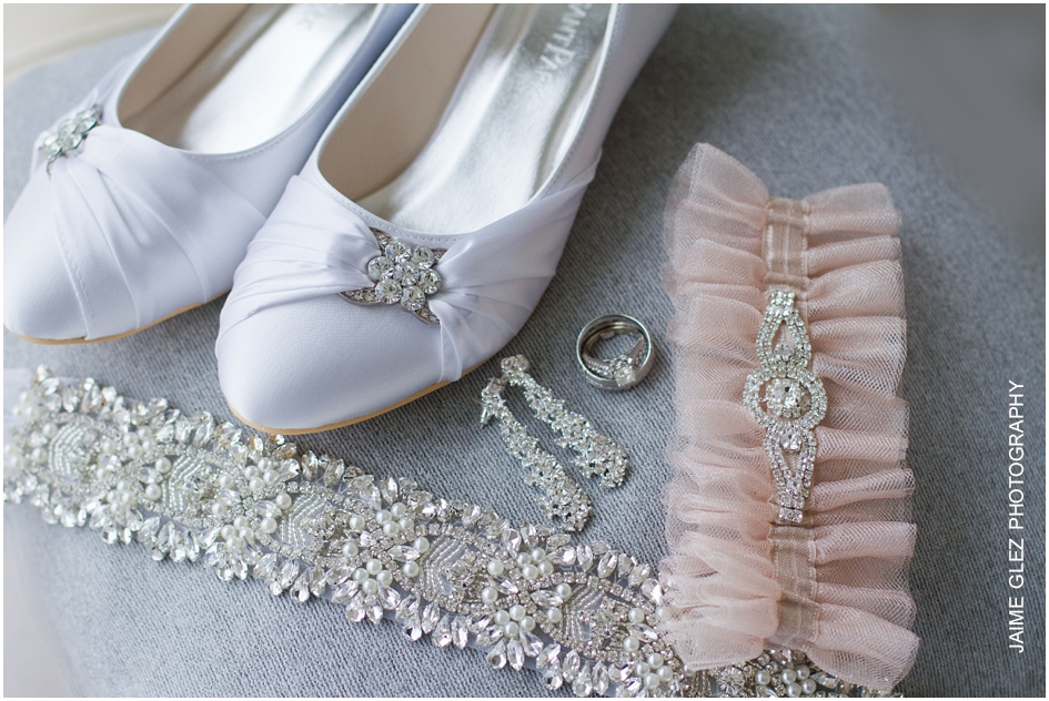 Sweet bridal accessories.