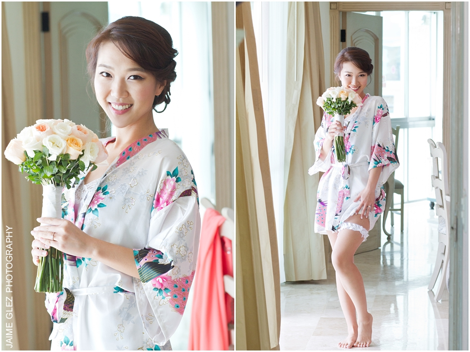 Totally love the bride's wedding day style. She looked so delicate and feminine.