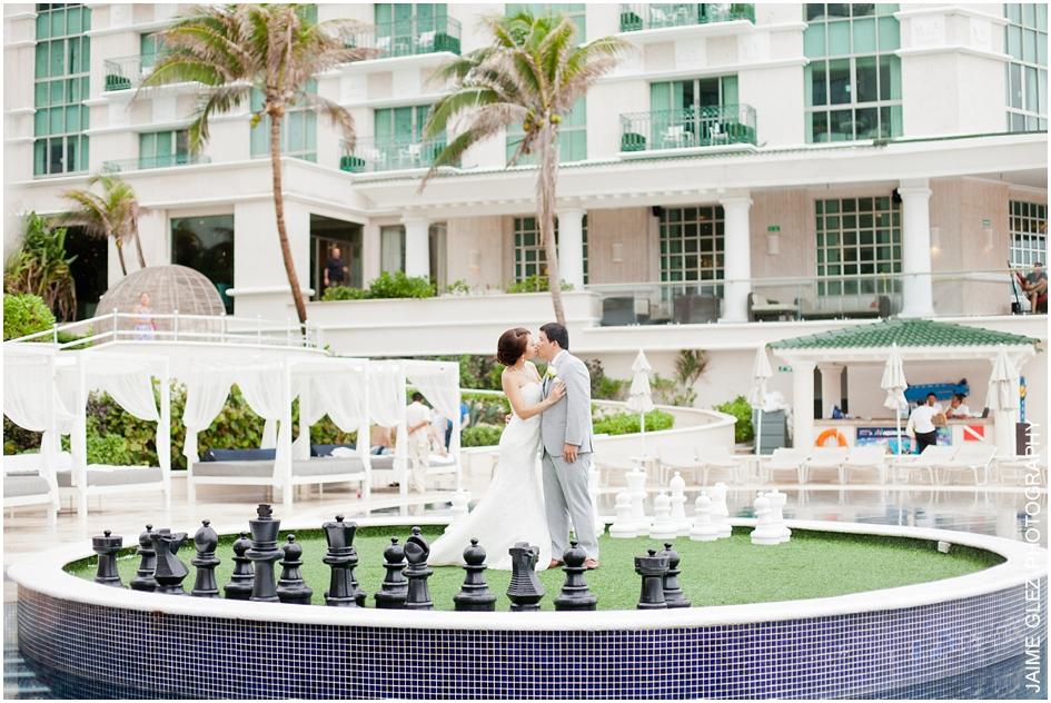Sandos cancun luxury wedding 13