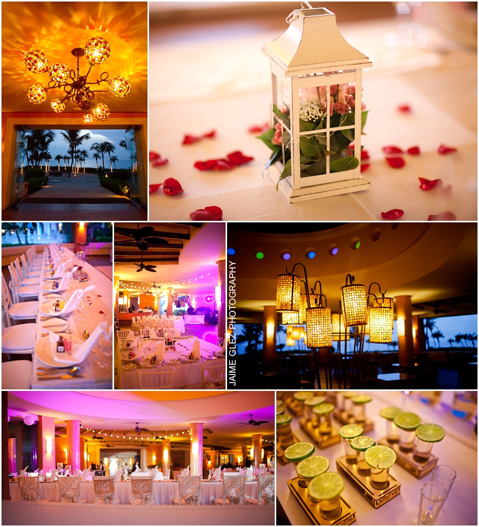 Wonderful details in wedding reception.