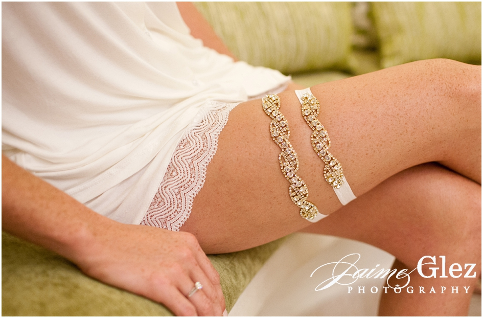 Exquisite wedding garter!