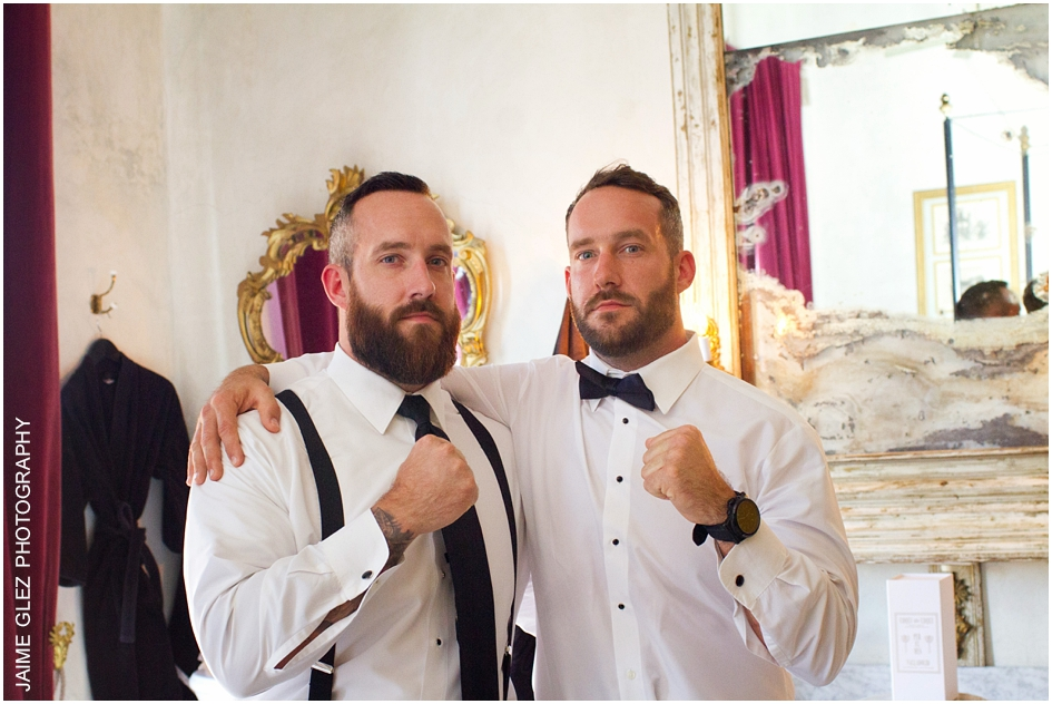 Groom and his very best man.  Love the photo!