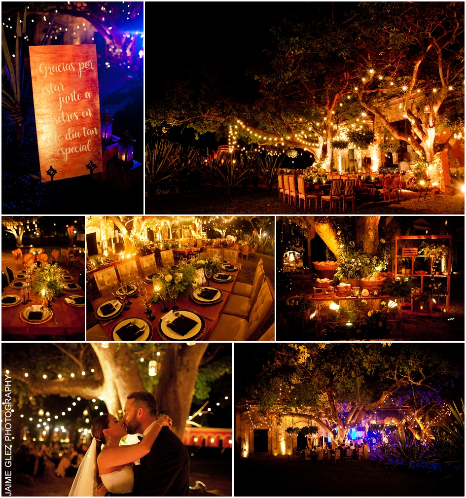 Wonderful night for newlyweds in Hacienda Chichi Suarez. Super romantic!