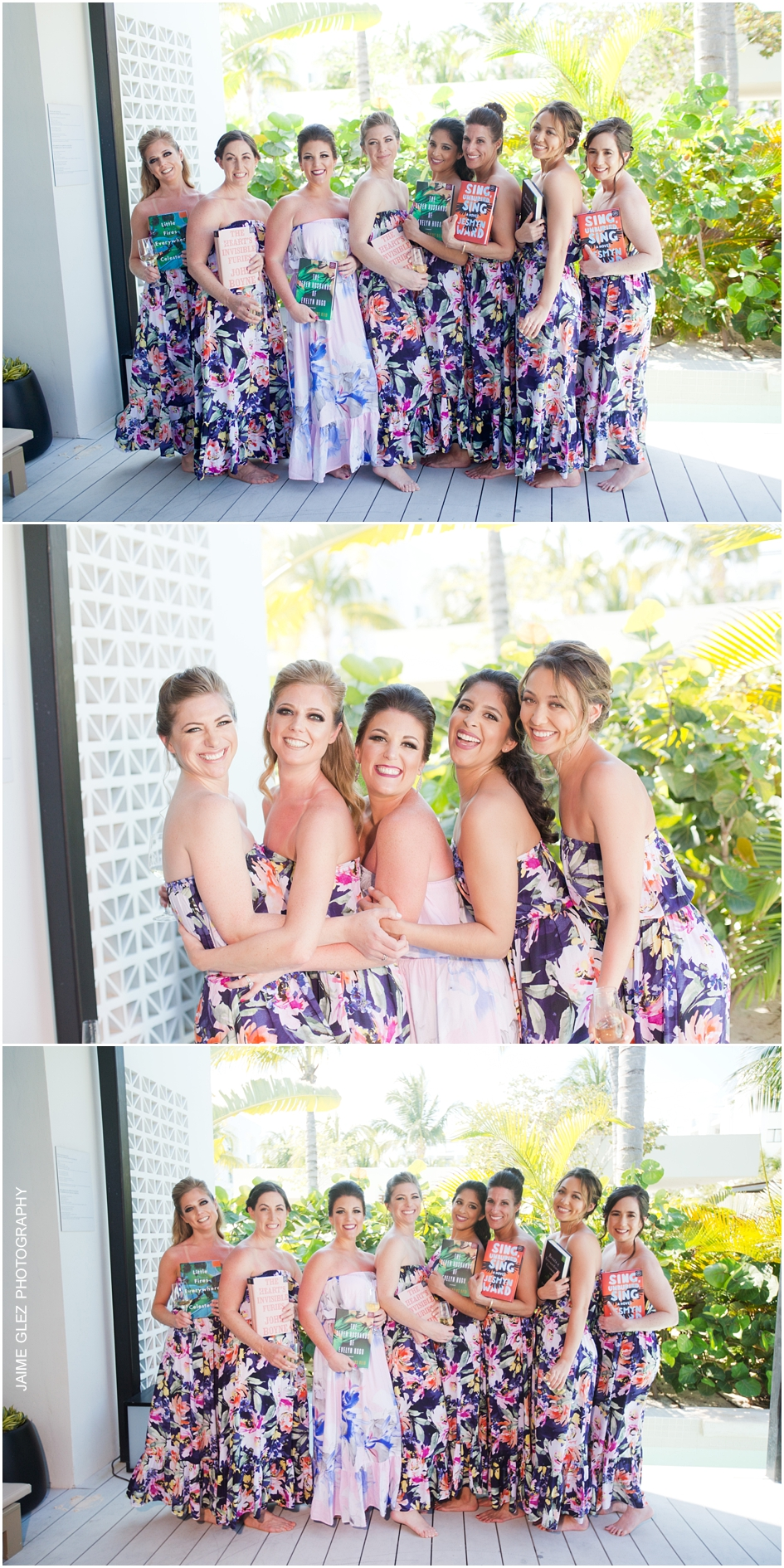 Fun and special moments of getting ready with the bride & bridesmaids.