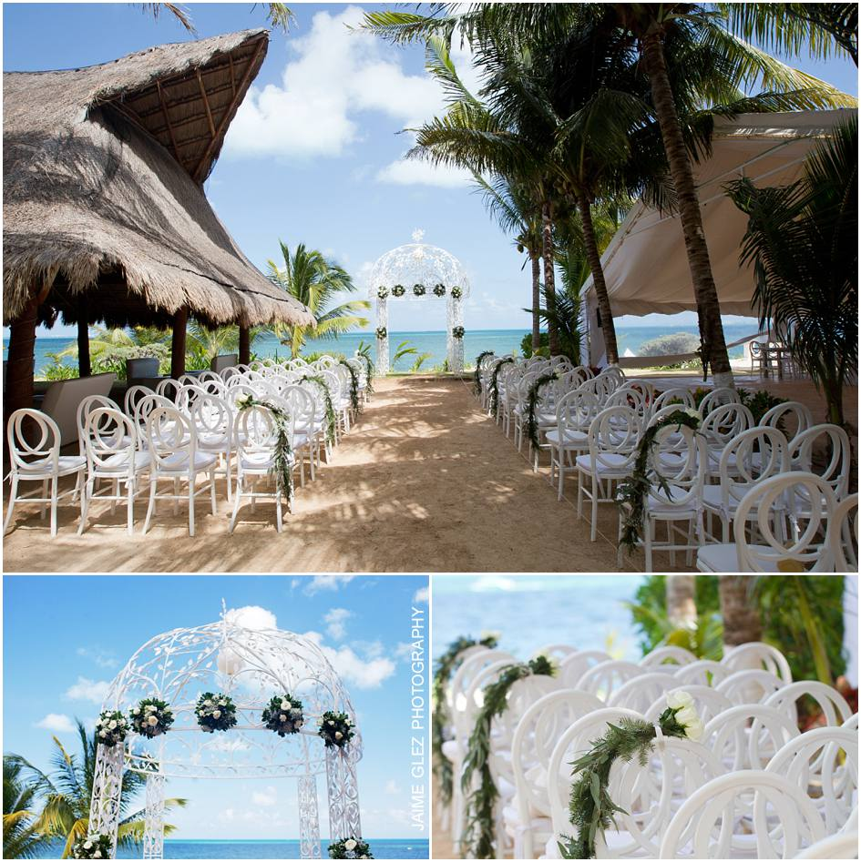 Simple and romantic way to set up a beach wedding ceremony.