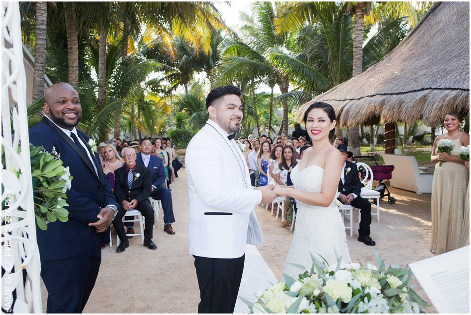 ocean wedding cancun mexico 14