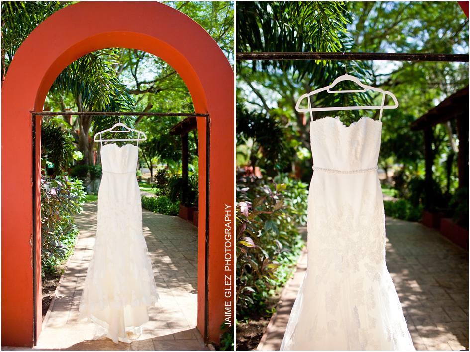 Ese hermoso vestido de novia que lució Bárbara y la hizo ver espléndida.