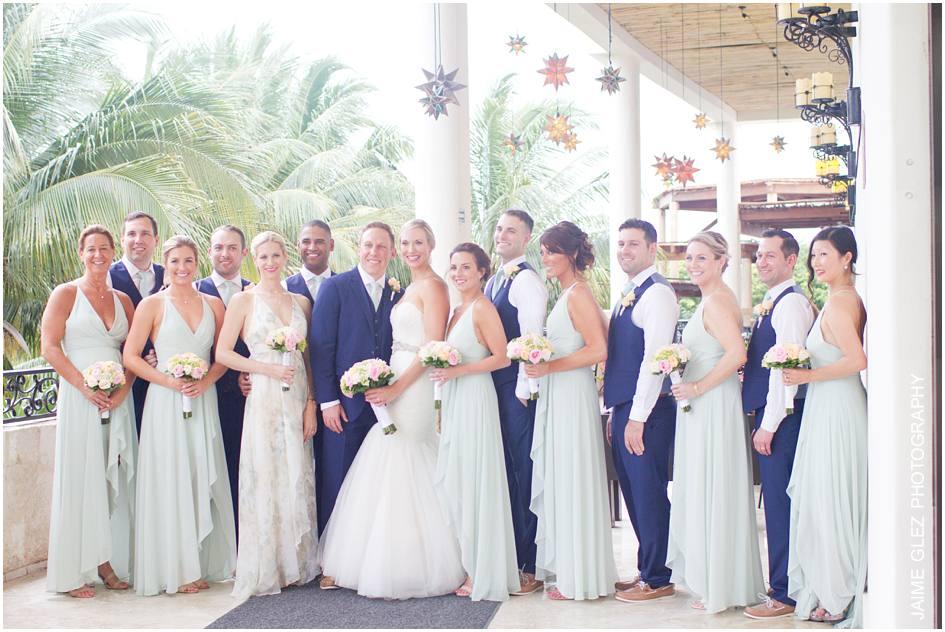 secrets maroma beach wedding photos 23