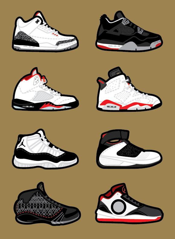 Nike: Air Jordans done by  Robb Harskamp