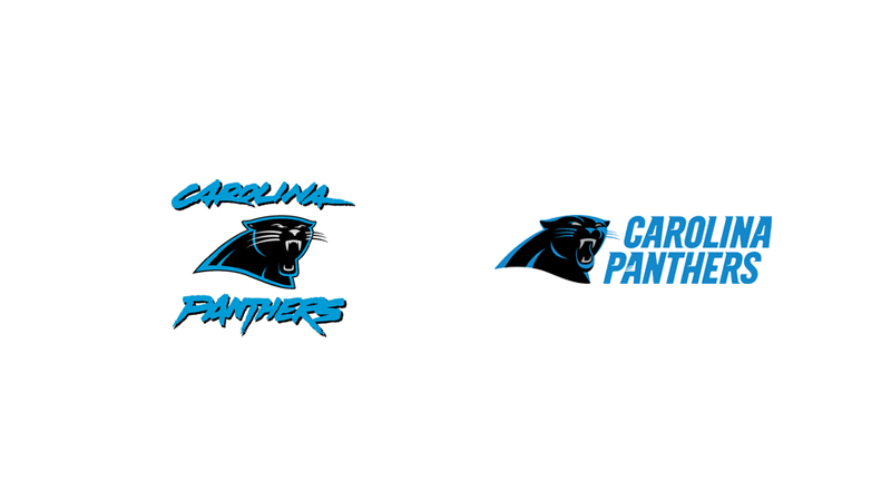 Carolina Panthers lose their 1980s font.
