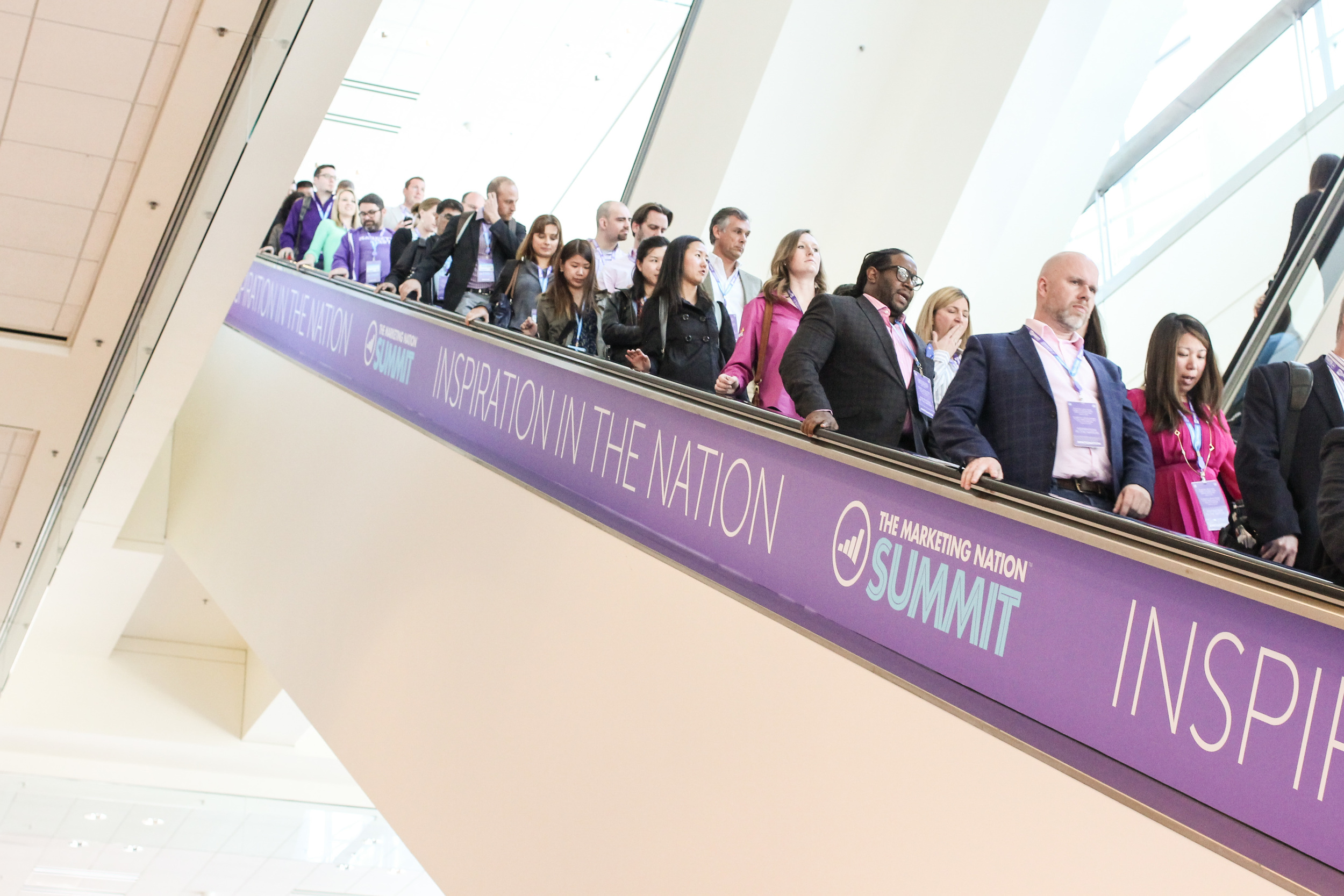 Attendees for the Marketing Nation Summit sponsored by #Marketo. #convention #MasconeCenter
