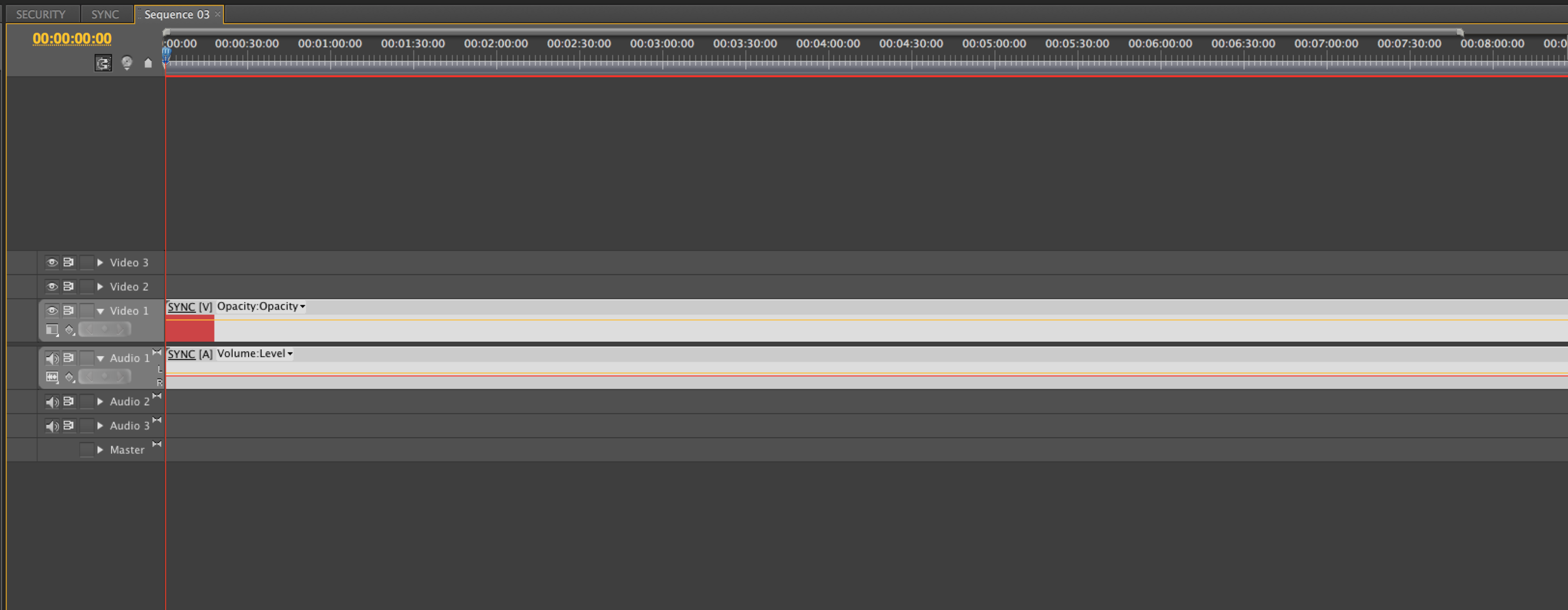 Here the EDIT timeline is named Sequence 03