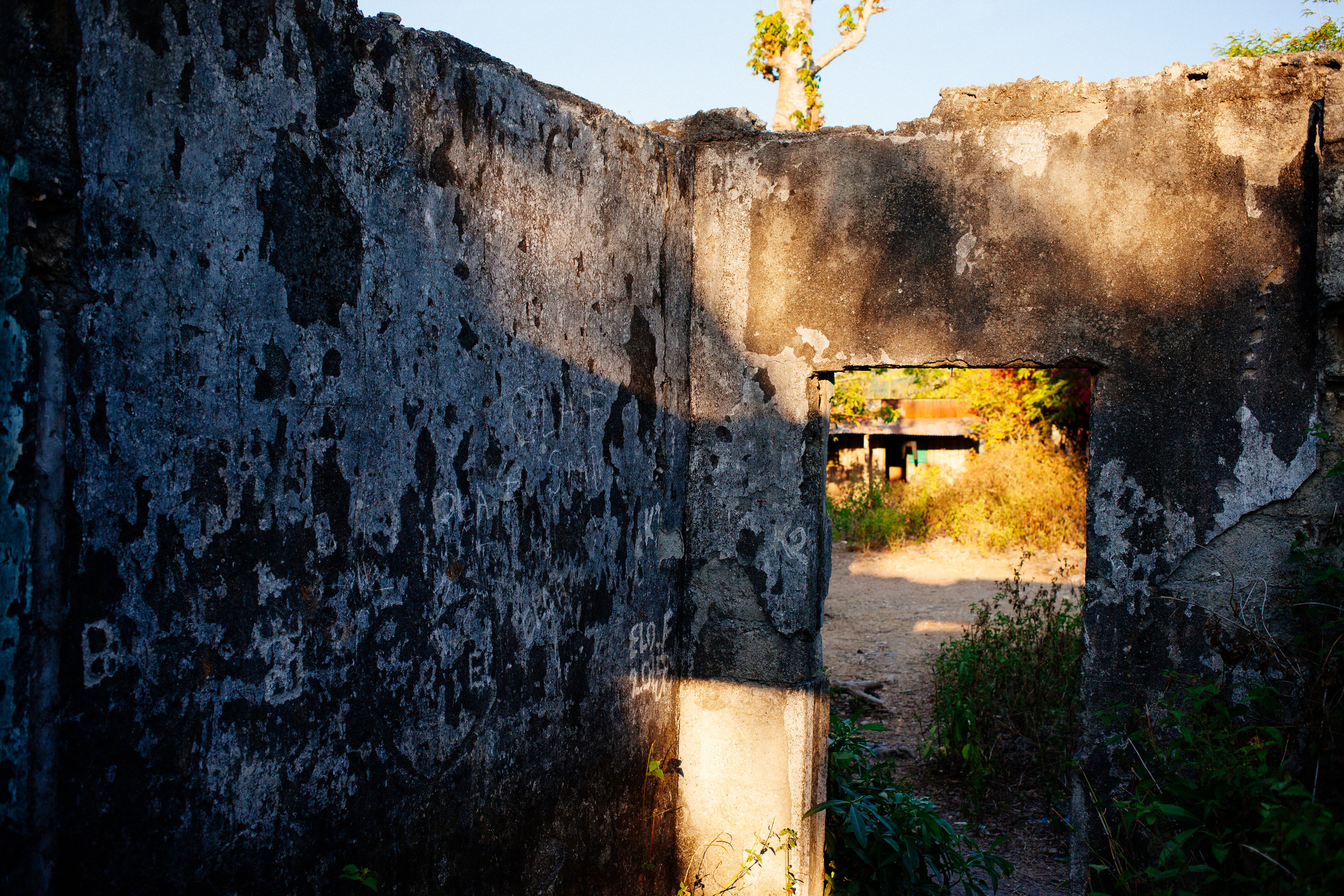 """This is locally referred to as """"The Kissing House"""" for some pretty gruesome reasons.  It was where a lot of the locals rounded up by the Indonesians were shot."""