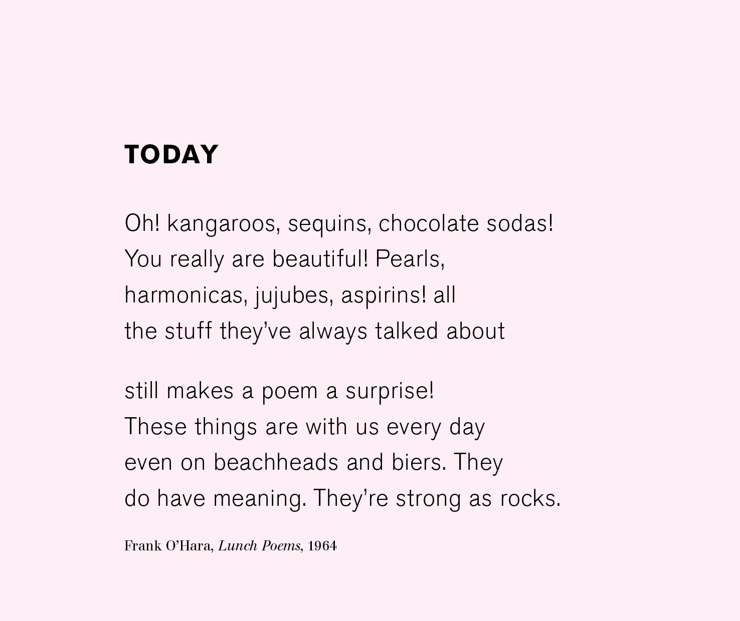 today frank o'hara
