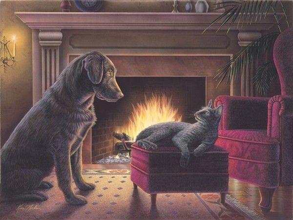 Fireside by Kim Norlien