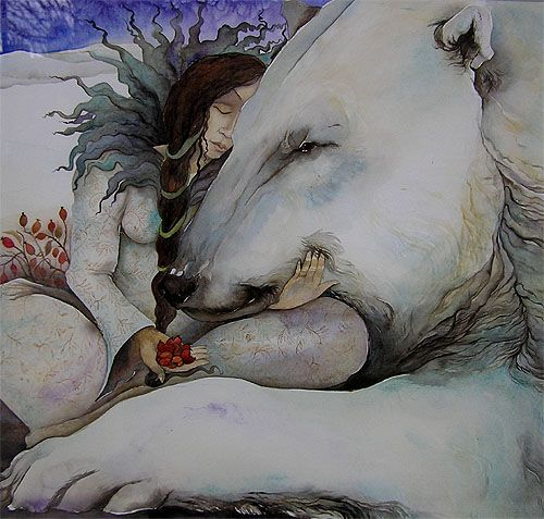 Painting by Jackie Morris