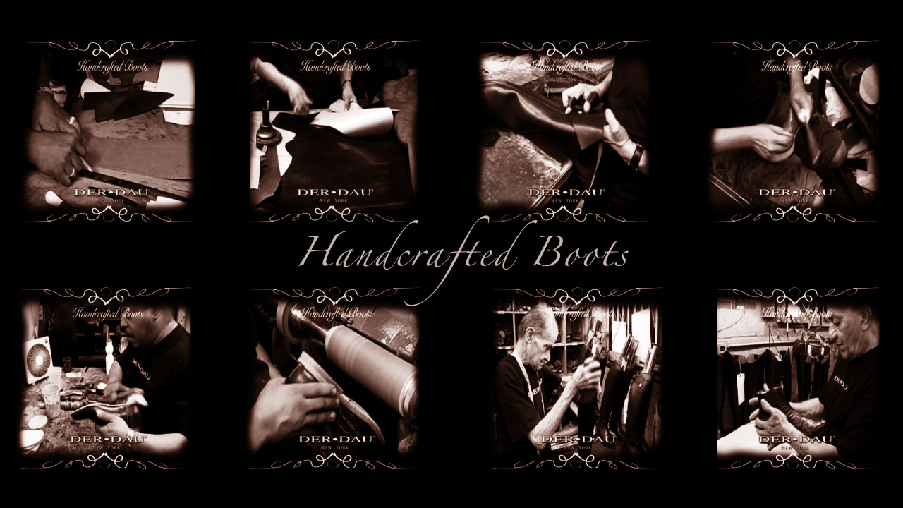 Making of a hand crafted boots collage