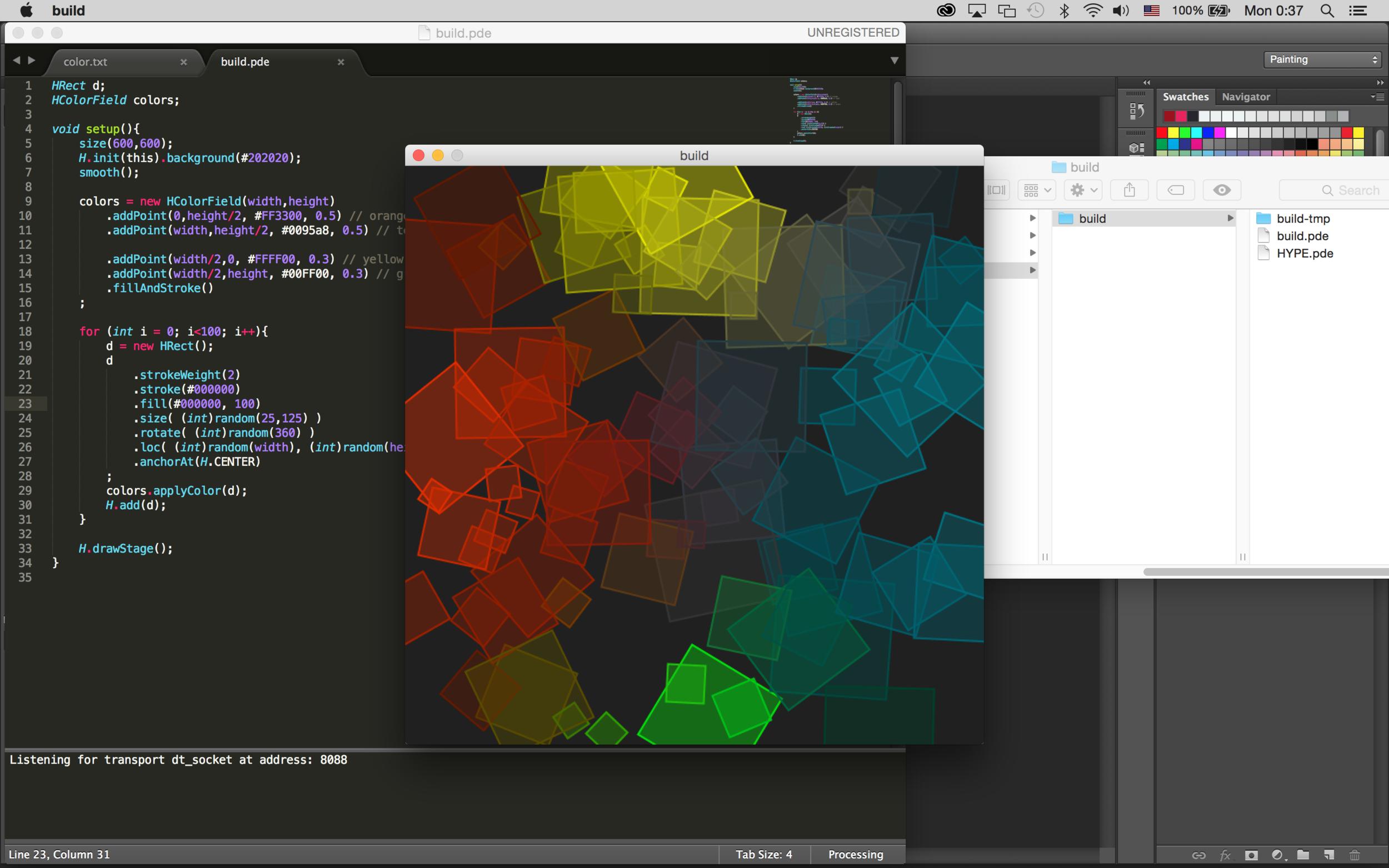 Basics of programming graphics