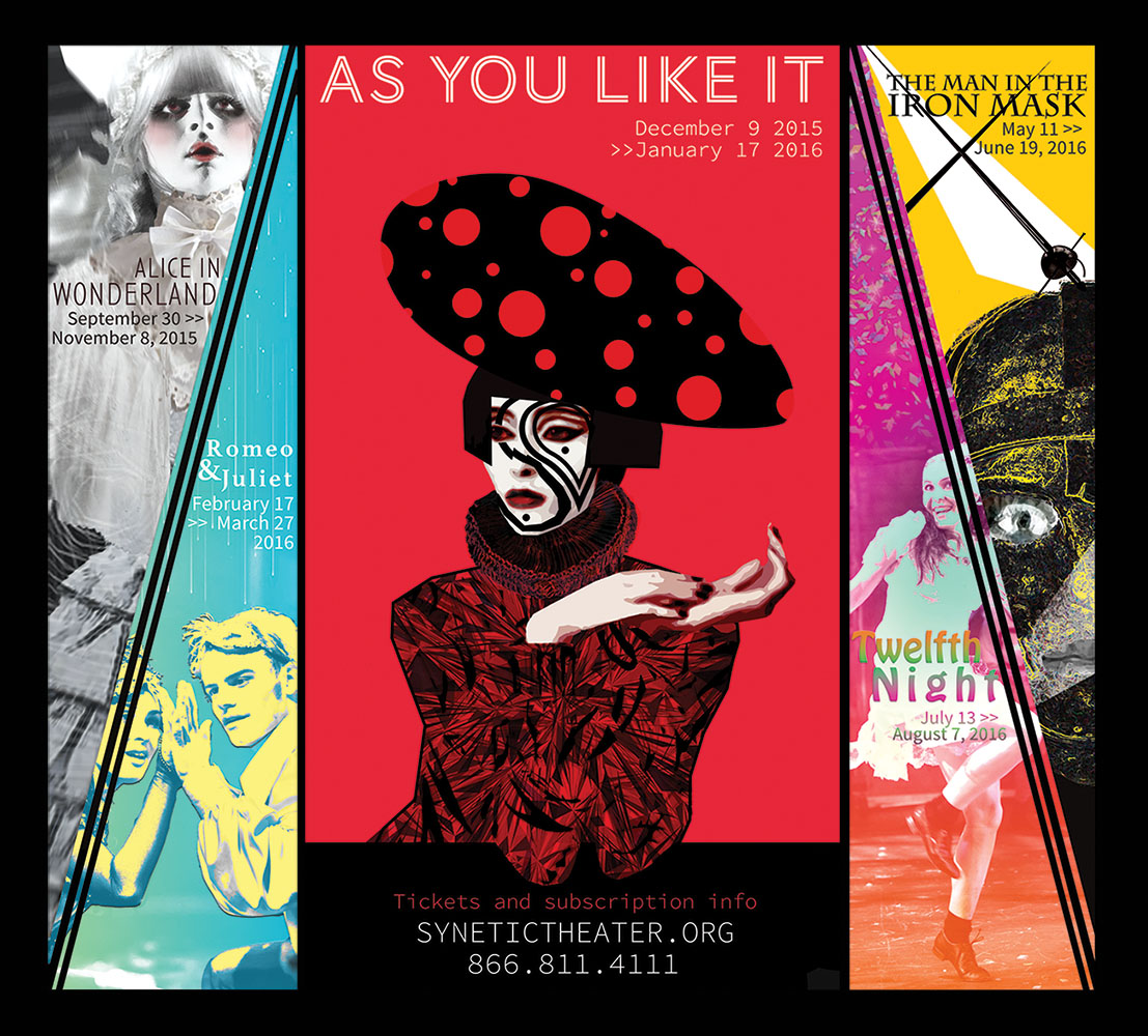 Hallway poster design for Synetic Theater's 2015/2016 season