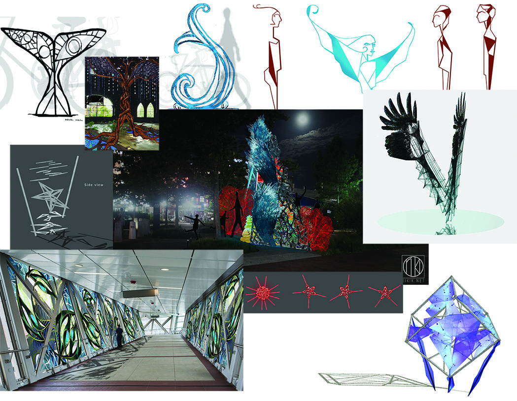 Snippets of few concept designs done from April to August 2016