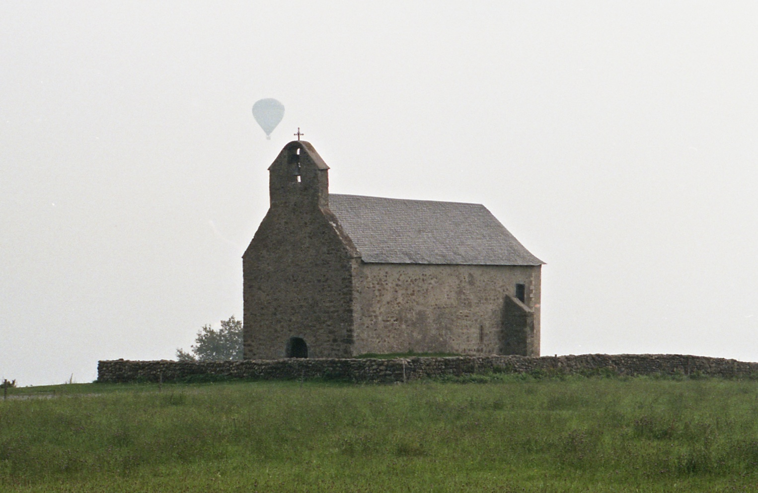 CHURCH AND BALLOON