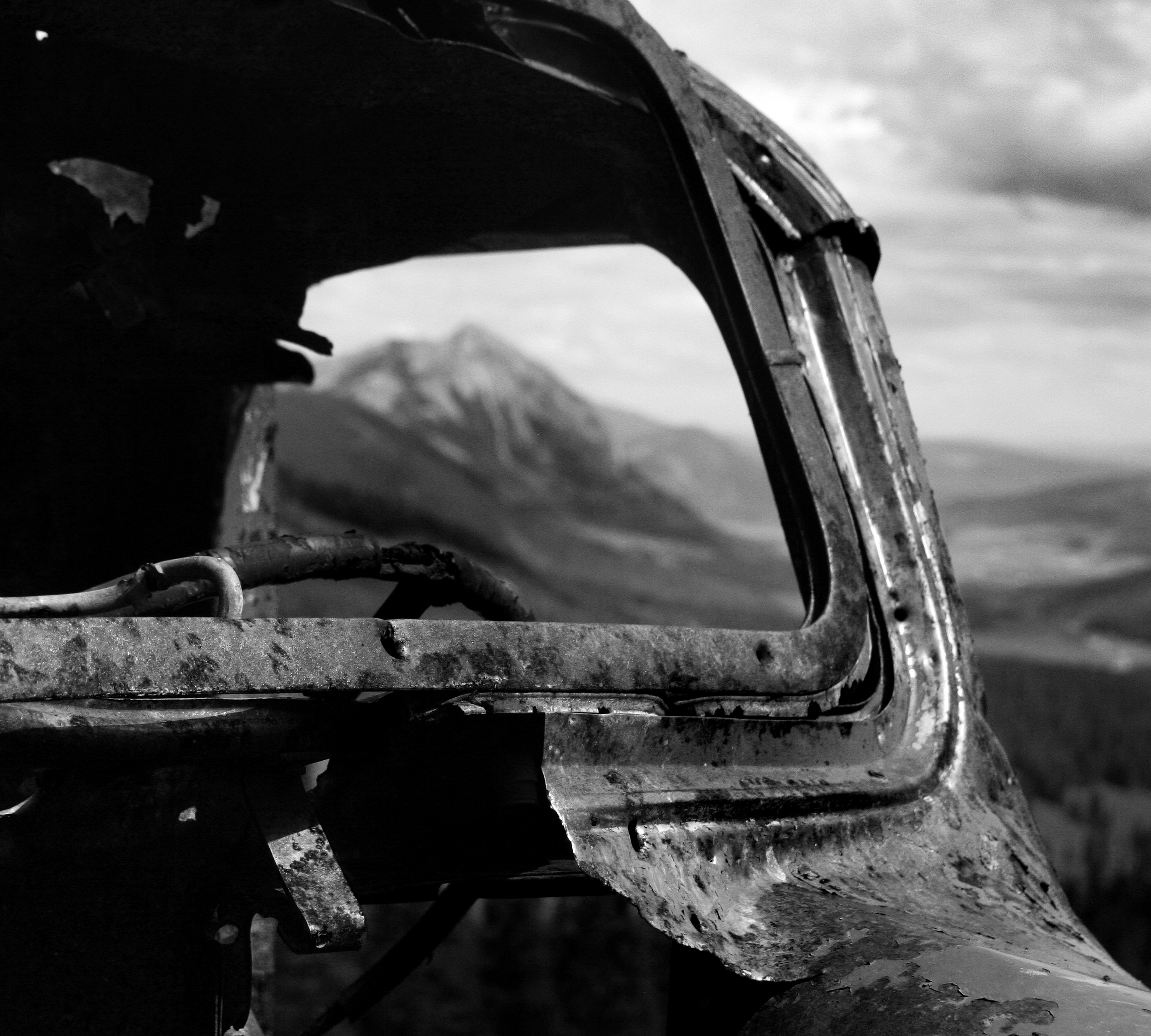 Mt. Crested Butte and Rusted Truck