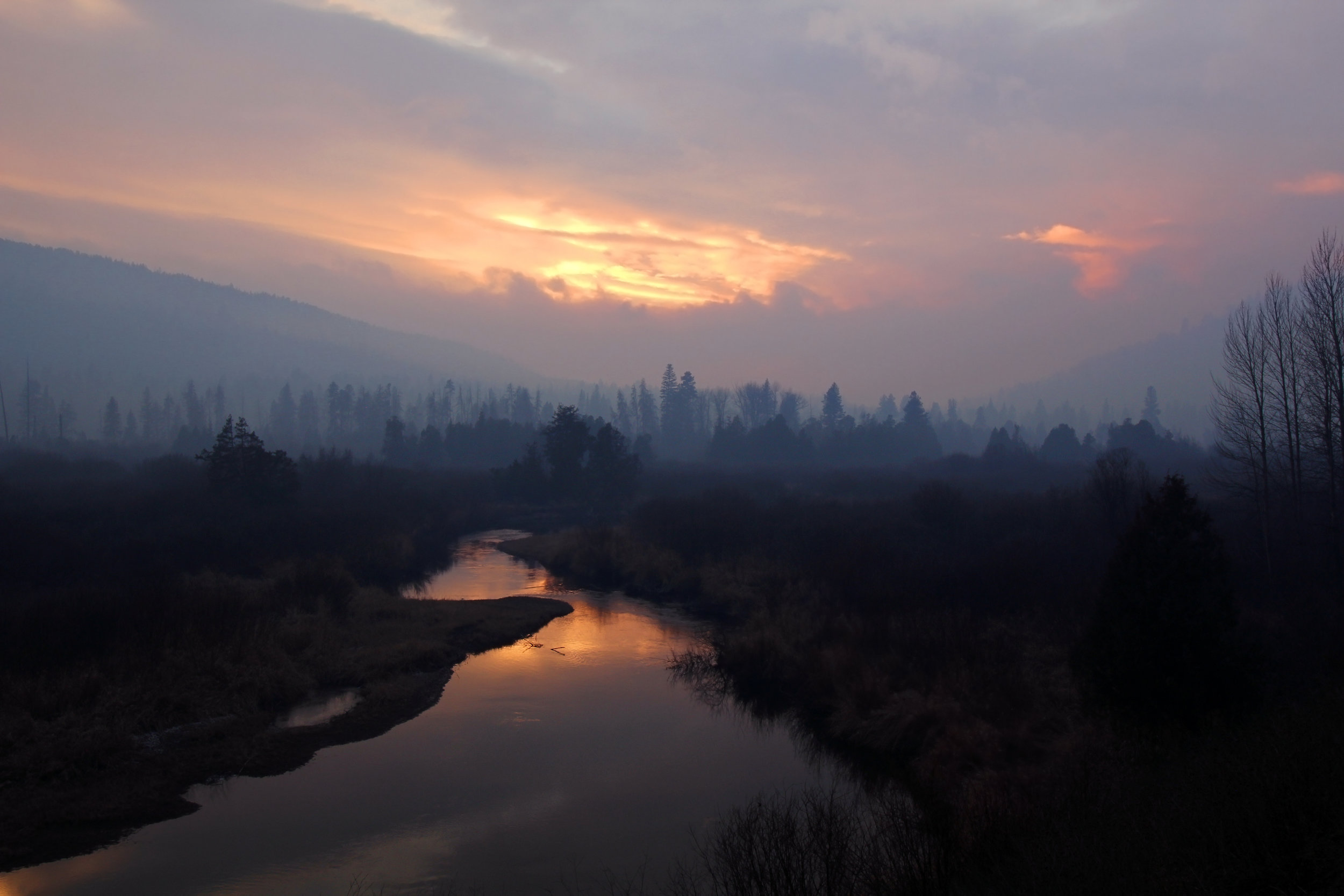 Seeley Fire Sunset