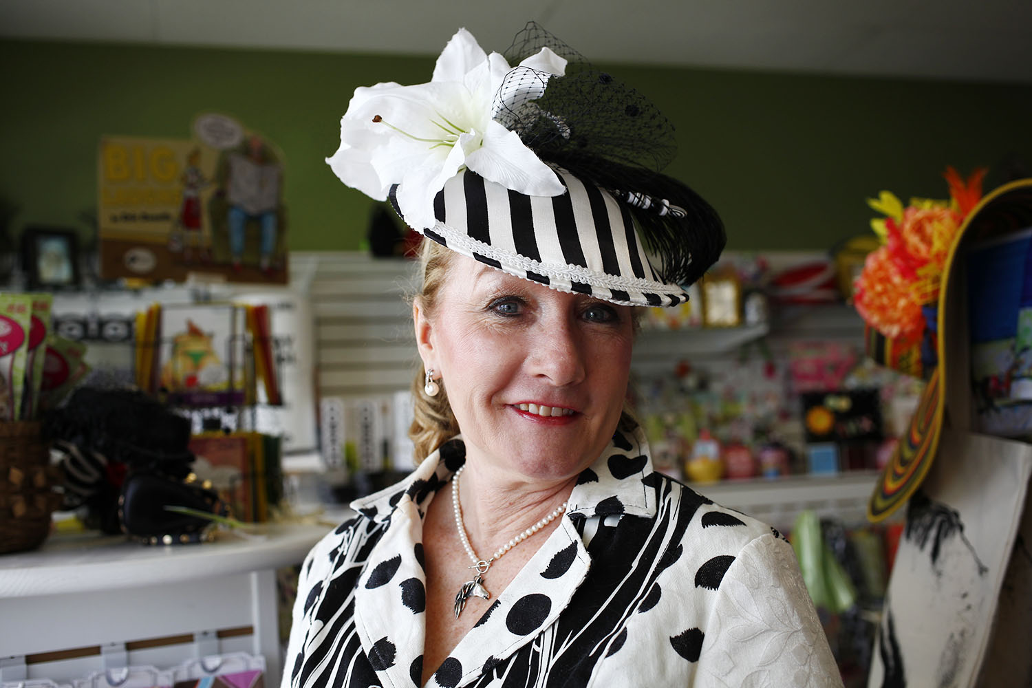 Sheila Nobles is half of the millinery team of CK Nobles. Her and her business partner C. Kevin Swansey started making hats more than a decade ago and served as the official milliners for the Kentucky Derby Museum for 10 years.