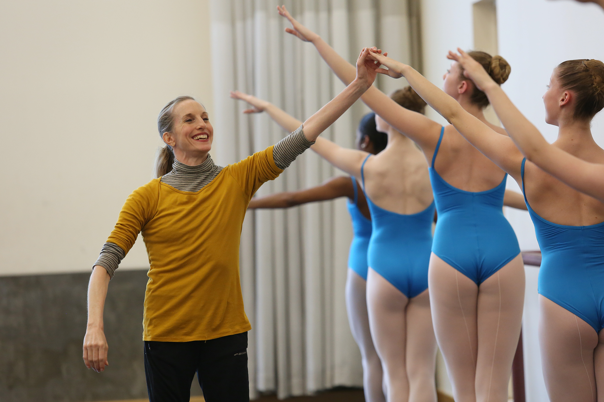 Wendy Whelan teaches a master class at Louisville Ballet for Louisville Ballet School students.