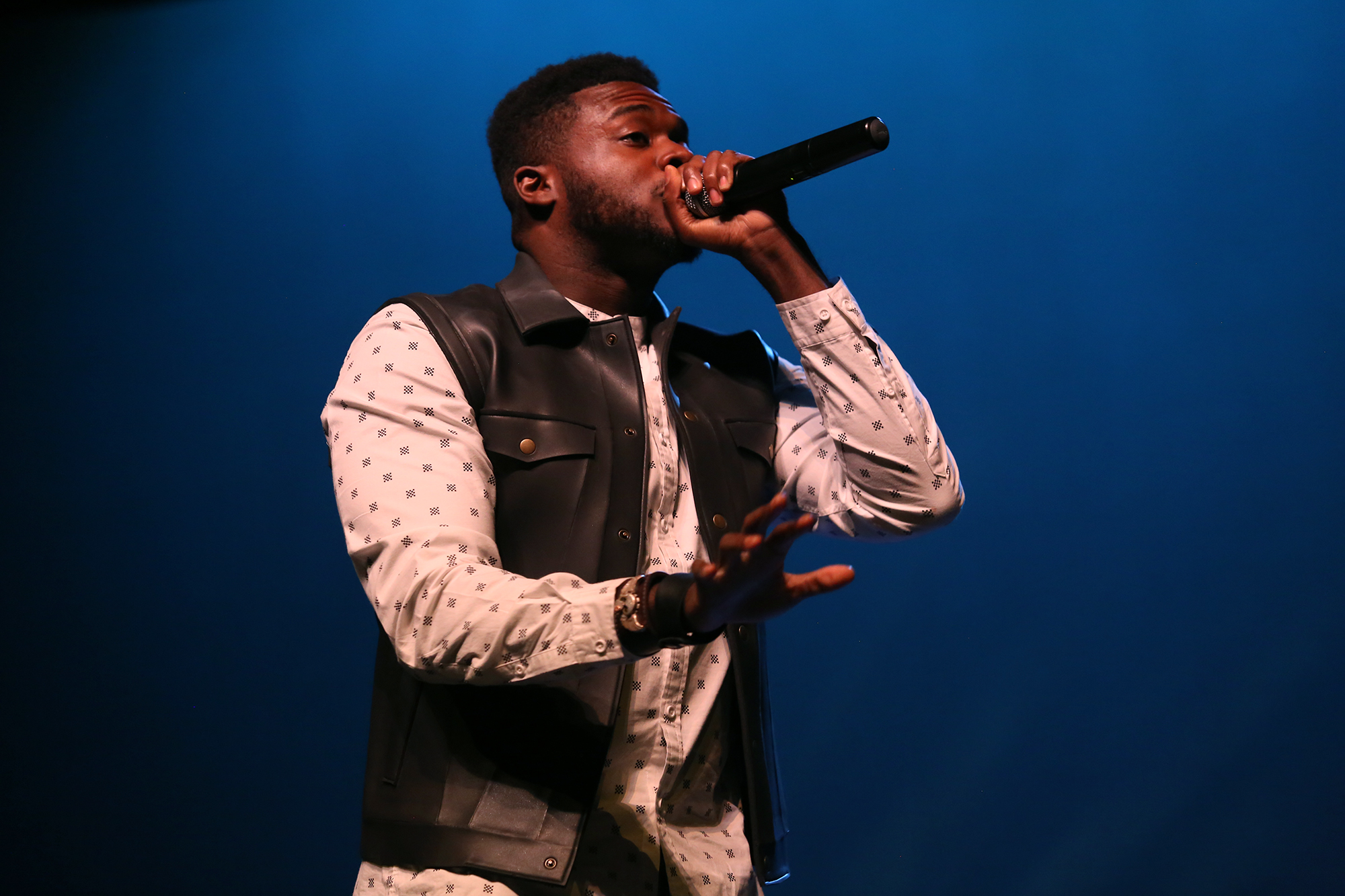 Governor's School for the Arts alumnus (and member of the Grammy-award winning group Pentatonix) Kevin Olusola came home to GSA this summer, visiting with students and encouraging them to be the best artists they can be.