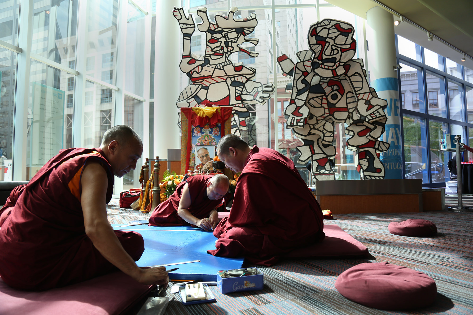 Our review of 2017 rolls on with this image of Buddhist monks from  Drepung Gomang Center for Engaging Compassion .  The monks created a mandala out of sand during Festival of Faiths.