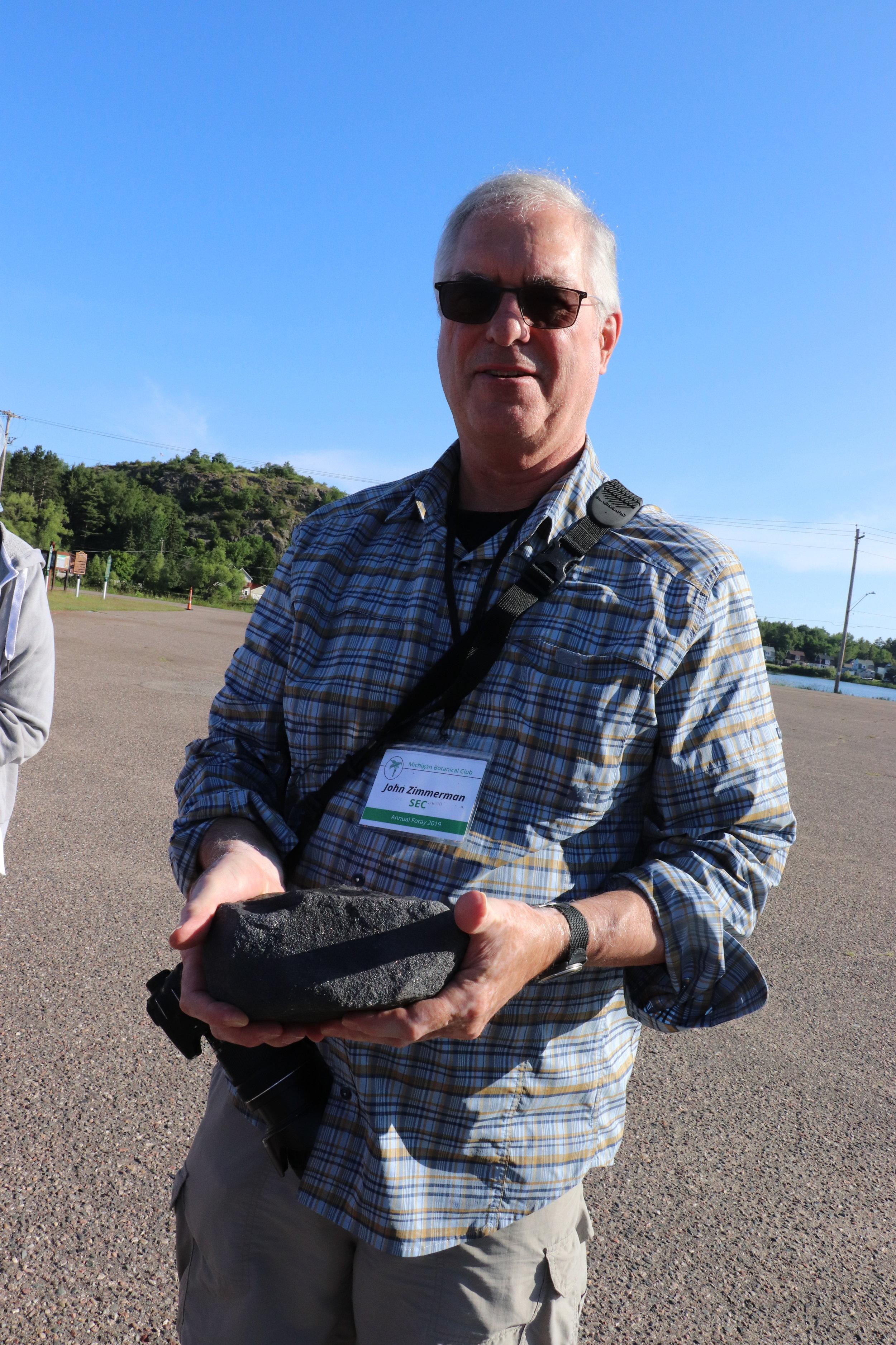 John with iron ore sample - hematite