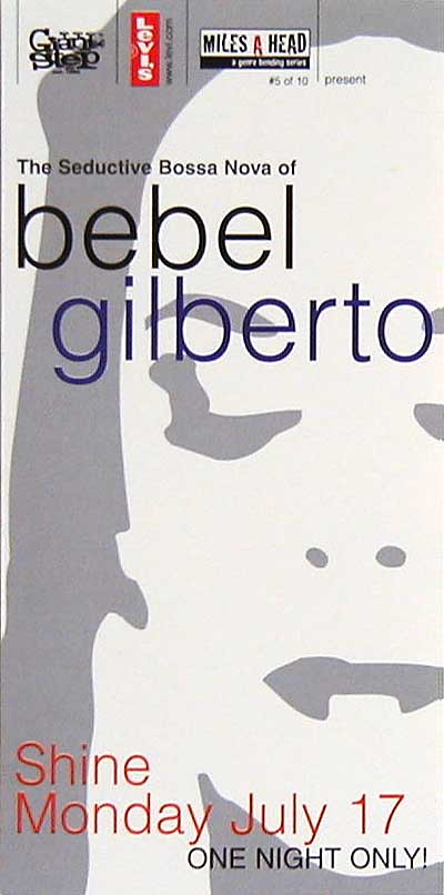 Flyers: Bebel Gilberto